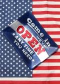 ポップデコガラストレイ アメリカ柄トレイ スナックフルーツトレイ 小物置き オープン アメリカ雑貨 サンブリッヂ 通販 通販商品