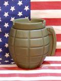 手榴弾型アッシュトレイ グレネード灰皿 ミリタリー 陶器製 アメリカ雑貨屋 SUNBRIDGE