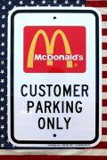 マクドナルド看板 マクドナルドパーキング看板 駐車場看板 アメリカマック マック限定 アメリカ雑貨屋 SUNBRIDGE 通販