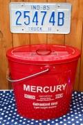 オーバルバケツ赤 マーキュリーフタ付きバケツ マーキュリーバケツ MERCURY アメリカ雑貨屋 サンブリッヂ 雑貨 SUNBRIDGE