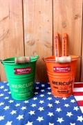 マーキュリーミニバケツ マーキュリーペン立て ブリキバケツ MERCURY アメリカ雑貨屋 サンブリッヂ 雑貨 SUNBRIDGE
