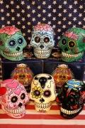 メキシカンスカルヘッド貯金箱 メキシカンスカル シュガースカルバンク メキシコ骸骨 アメリカ雑貨屋 サンブリッヂ 通販