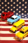 ミニカー鉛筆削り クーペ スクールバス イエローキャブ アメリカ雑貨屋 サンブリッヂ
