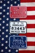 ハワイナンバープレート 自転車ナンバープレート オールドナンバープレート ミニナンバープレート アメリカ雑貨 サンブリッヂ 通販