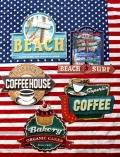 アメリカンミニ看板 コーヒー看板 カップケーキ看板 ビーチ看板 アメリカブリキ看板 アメリカ雑貨 サンブリッヂ 通販  通販商品