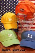 m&m ロゴ入り キャップ キッズ 子供 帽子 男の子 女の子 ベビー 韓国 アメリカ 雑貨屋 サンブリッヂ