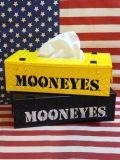 ムーンアイズ チェッカープレートティッシュケース スチール製 MOON EYES アメリカ雑貨 SUNBRIDGE