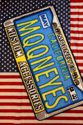 ムーンアイズフロアマット  ライセンスフレーム MOONEYES マット  アメリカ雑貨通販 アメリカ雑貨屋 サンブリッヂ