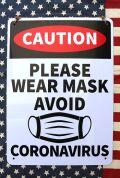 マスク看板 マスク着用看板 店舗看板 コロナ対策看板  アメリカ雑貨屋 サンブリッヂ