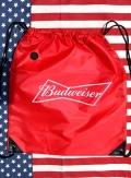 バドワイザーナップサック バドワイザーバッグ バドワイザーポーチ バドワイザー海バッグ アメリカ雑貨通販