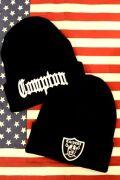 NFL アメフト ニットキャップ コンプトンニット帽 レイダースニット帽 NFL帽子 アメリカ雑貨屋 サンブリッヂ アメフト雑貨通販