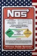 ノス看板 NOS看板 ノスニトロ看板 アメリカンガレージ看板 アメリカン雑貨通販  サンブリッヂ
