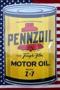 ペンゾイル看板 エンボス看板 オイル缶 ブリキ看板 アメリカン看板 PENNZOIL アメリカ雑貨通販 サンブリッヂ 通販商品