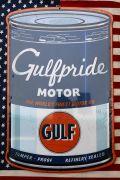 ガルフ看板 エンボス看板 オイル缶 ブリキ看板 アメリカン看板 GULF アメリカ雑貨通販 サンブリッヂ 通販商品