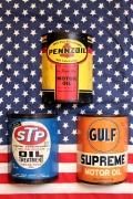 オイル缶看板 STPオイル缶看板 ペンゾイルオイル缶看板 ガルフオイル缶看板 アメリカ雑貨屋 サンブッヂ