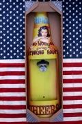 NO WORK DRINKING HOURS  飲むヒマなし シェイプドボトルキャップオープナー 壁掛け栓抜き アメリカ雑貨屋 サンブリッヂ 通販