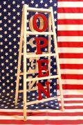 オープン看板 卓上オープン看板 レジ看板 営業時間看板 アメリカ雑貨屋 サンブリッヂ ブリキ看板通販