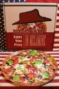 ピザラウンドプレート ピザ柄メラミン皿 直径36.5cm アメリカ雑貨屋 サンブリッヂ