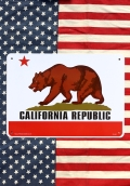 カリフォルニア看板 カリフォルニアプラサイン カリフォルニアプラスチックサインボード アメリカ雑貨通販 サンブリッヂ  岩手雑貨屋