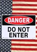 立入禁止看板 デンジャープラサイン 立入禁止プラスチックサインボード アメリカ雑貨通販 サンブリッヂ 岩手雑貨屋