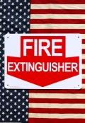 消火器看板 消火器はここ看板 プラスチックサインボード アメリカ雑貨通販 サンブリッヂ 岩手雑貨屋