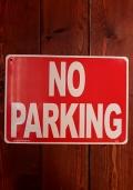 駐車禁止看板 プラサイン ノーパーキング アメリカ雑貨屋 サンブリッヂ