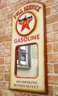 アメリカンパブミラー ガソリン壁掛けミラー ガソリンミラー オールドアメリカン アメリカ雑貨屋 サンブリッヂ 通販