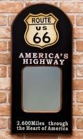 アメリカンパブミラー ルート66壁掛けミラー アンティークミラー オールドアメリカン アメリカ雑貨屋 サンブリッヂ 通販