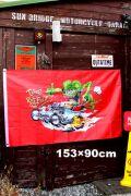 ラットフィンクフラッグ タペストリー 旗  輸入 RATFINK ガレージ看板 アメリカ雑貨屋 サンブリッヂ
