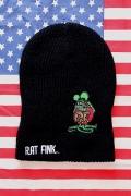 ラットフィンクニット帽 ビーンーニットキャップ ムーンアイズニット帽 MOONEYES RATFINK SUNBRIDGE サンブリッヂ アメリカ雑貨通販
