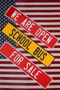 アメリカンロードサイン アルミ看板 OPEN SALE SCHOOL アメリカ雑貨屋 サンブリッヂ