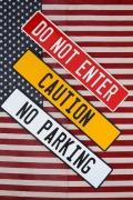 アメリカンロードサイン アルミ看板 立入禁止 注意 駐車禁止 アメリカ雑貨屋 サンブリッヂ