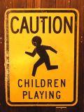 アメリカ道路標識 ROAD SIGN ロードサイン 子供に注意 CAUTION CHILDREN スチールサイン アメリカ雑貨 サンブリッヂ 通販