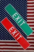 出口看板 EXIT看板 ストリート看板 ストリートサイン アメリカ雑貨屋 サンブリッヂ アメリカン看板通販