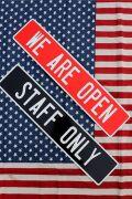 オープン看板 スタッフオンリー看板 ストリート看板 ストリートサイン アメリカ雑貨屋 サンブリッヂ アメリカン看板通販
