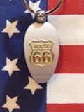 ルート66 メタルキーリングサインボトルオープナー 栓抜きキーホルダー ROUTE66 アメリカ土産 雑貨屋サンブリッヂ