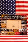 ROUTE66写真立て ROUTE66フォトフレーム ナンバープレート写真立て アメリカ雑貨屋 SUNBRIDGE アメリカ雑貨通販
