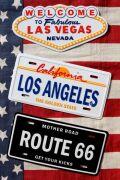 ナンバープレートマグネット ブリキ看板 ROUTE66 カリフォルニア ラスベガス アメリカン雑貨通販 アメリカ雑貨屋 サンブリッヂ