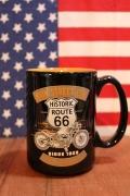 ルート66メインストリートマグカップ アメリカンバイクマグカップ ROUTE66 アメリカ雑貨屋 サンブリッヂ アメリカン雑貨通販