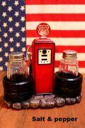 ルート66 塩コショウ ソルトアンドペッパー キッチン BBQ アメリカン アメリカ雑貨 通販 アメリカ雑貨屋 サンブリッヂ 通販商品