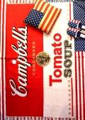 キャンベルコットンマット フロアマット ラグマット キャンベル缶 アメリカ雑貨屋 サンブリッヂ 雑貨通販 SUNBRIDGE