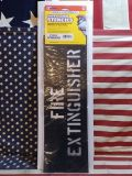 セーフティサイン プラスチックステンシル FIRE EXTINGUISHER アメリカ雑貨屋 SUNBRIDGE