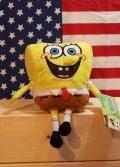 スポンジボブぬいぐるみ スポンジボブスプラッシュSサイズ アメキャラ アメリカンキャラクター アメリカ雑貨屋 サンブリッヂ 通販