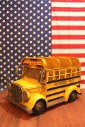 スクールバス CDラック ブリキスクールバス ミニカー アメリカン雑貨 通販 アメリカ雑貨屋 サンブリッヂ
