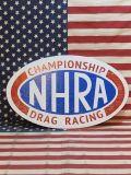 アメリカンウッドサイン NHRA 全米ホットロッド協会 ドラッグレース 金具つき アメリカ雑貨屋 SUNBRIDGE
