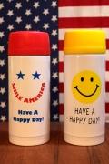 スマイルステンレスドリンクボトル スマイル水筒 保温保冷ボトル アメリカ雑貨屋 サンブリッヂ