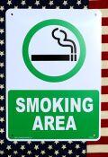 スモーキングエリア看板 喫煙所看板 タバコ看板 アメリカン看板  アメリカ雑貨通販 サンブリッヂ