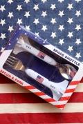 スペースシャトルフォークスプーン カトラリー キッズスプーンフォーク USAシャトル アメリカ雑貨屋 サンブリッヂ 通販