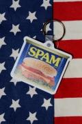 スパムキーホルダー ラバー製 キーホルダー SPAM アメリカ雑貨屋 サンブリッヂ アメリカン雑貨 通販