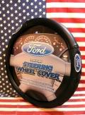 フォードハンドルカバー ステアリングホイールカバー アメリカ雑貨屋 サンブリッヂ
